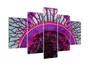 Abstraktní obraz - fialové větve (V020821V150105)