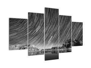 Tablou albnegru cu cerul și stele (V020825V150105)