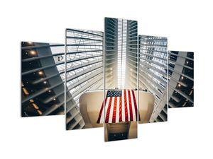 Obraz stavby s vlajkou USA (V020826V150105)