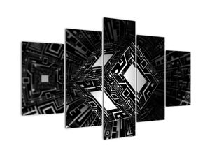 Obraz abstraktní krychle (V020830V150105)
