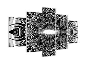 Obraz čiernobielych ornamentov (V020832V150105)