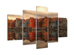 Obraz barevných domečků (V020849V150105)
