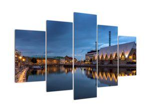 Obraz vodního kanálu - Göteborg (V020853V150105)