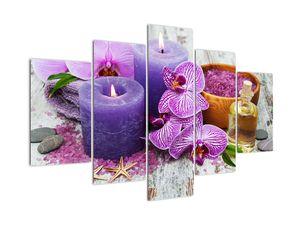 Obraz orchideí a svíček (V020894V150105)