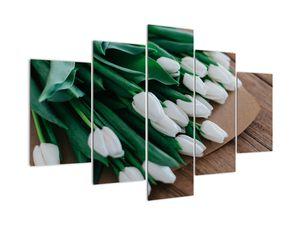 Egy csokor fehér tulipán képe (V020922V150105)