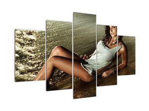 Obraz ženy na pláži (V020937V150105)