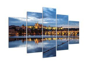 Obraz Pražského hradu a Karlova mostu (V020970V150105)