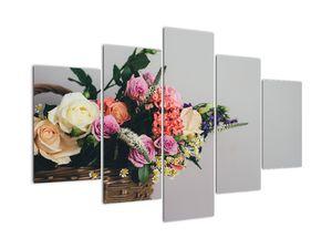 Obraz košíka s kvetinami (V020971V150105)