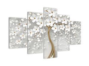 Tablou cu copac alb cu flori (V020977V150105)
