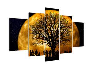 Obraz měsíce a siluet (V020995V150105)