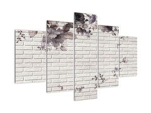 Obraz múru s kyticou (V021111V150105)
