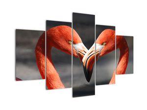 Obraz dvoch zamilovaných plameniakov (V021123V150105)