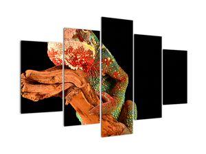 Obraz chameleona na větvi (V021125V150105)