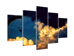 Obraz parašutisty v oblacích (V021191V150105)