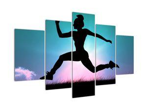 Obraz skákající siluety ženy (V021210V150105)
