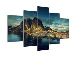 Slika ribiške vasi na Norveškem (V021280V150105)