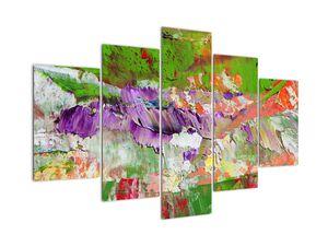 Obraz abstrakcie - maľba (V021290V150105)