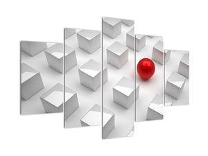 Tablou cu abstracție - cub cu bilă (V021296V150105)