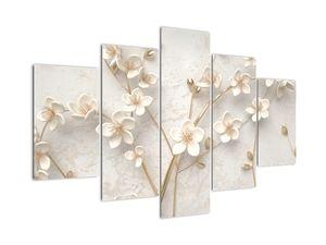 Kép - Arany virág - absztrakt (V021300V150105)
