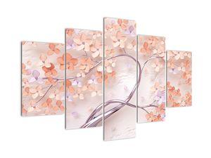 Tablou florilor de pom din coral - abstract (V021301V150105)
