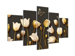 Obraz - Tulipány - abstraktné (V021347V150105)