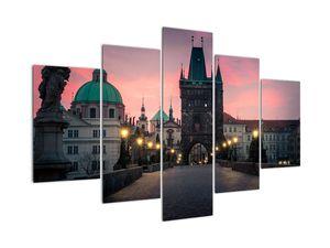 Slika - Na Karlovem mostu v Pragi (V021724V150105)