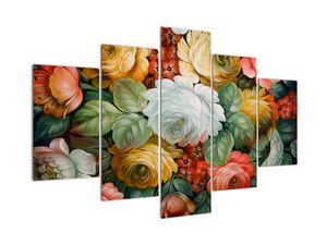 Tablou  cu buchet pictat de flori (V021943V150105)