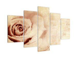 Tablou  - floare de trandafir pentru îndrăgostiți (V021945V150105)