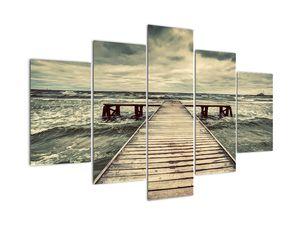 Egy fából készült móló képe a tengeren (V021949V150105)