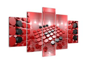 Tablou  cu abstracți din butoane (V021958V150105)