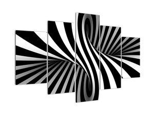 Abstraktní obraz se zebrovými pruhy (V021960V150105)