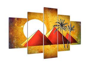 Tablou  cu piramidele egiptene pictate (V021967V150105)