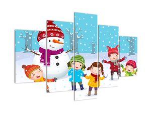 Obraz - Zimní dětské radovánky (V021988V150105)