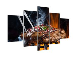 Obraz steaku na grilu (V021992V150105)