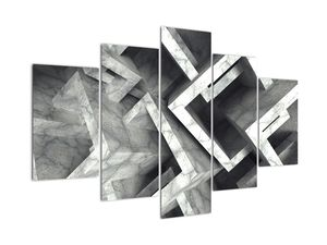 Abstraktní obraz krychlí (V022004V150105)