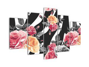 Tablou cu trandafiri înfloriți (V022024V150105)