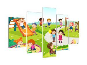 Obraz dětských radovánek na pískovišti (V022083V150105)