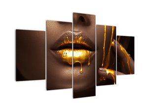 Obraz - Žena se zlatými rty (V022099V150105)
