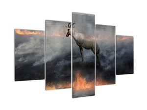 Tablou cu capră de munte în foc (V022106V150105)