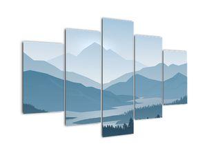 Tablou - Munții cu privirea graficeanului (V022118V150105)