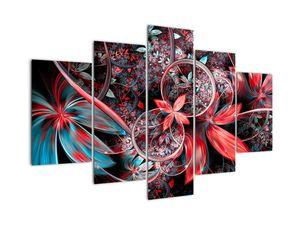 Abstraktní obraz exotických květů (V022145V150105)