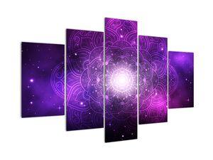 Obraz fialové abstrakce (V022148V150105)