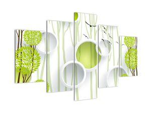Obraz abstrakce se stromy (V022185V150105)