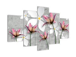 Obraz květinové abstrakce (V022186V150105)