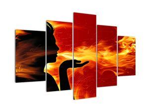 Obraz zeny s plameňmi (V022189V150105)
