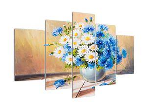 Naslikana slika vaze z rožami (V022252V150105)
