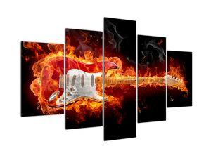 Obraz - Gitara v plameňoch (V022295V150105)