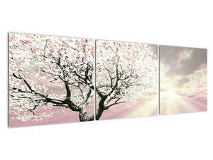 Růžový obraz stromu (V020058V15050)