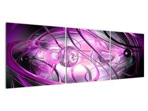 Obraz krásné fialové abstrakce (V020060V15050)