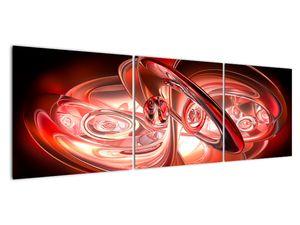 Obraz - červené tvary (V020064V15050)